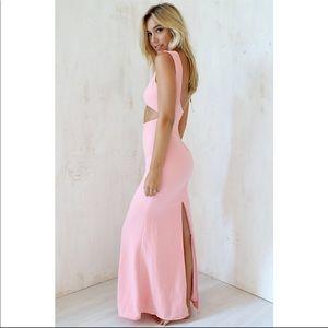 219e299abd Sabo Skirt Dresses - Sabo Skirt Pink Blush Leader Maxi Formal Gown